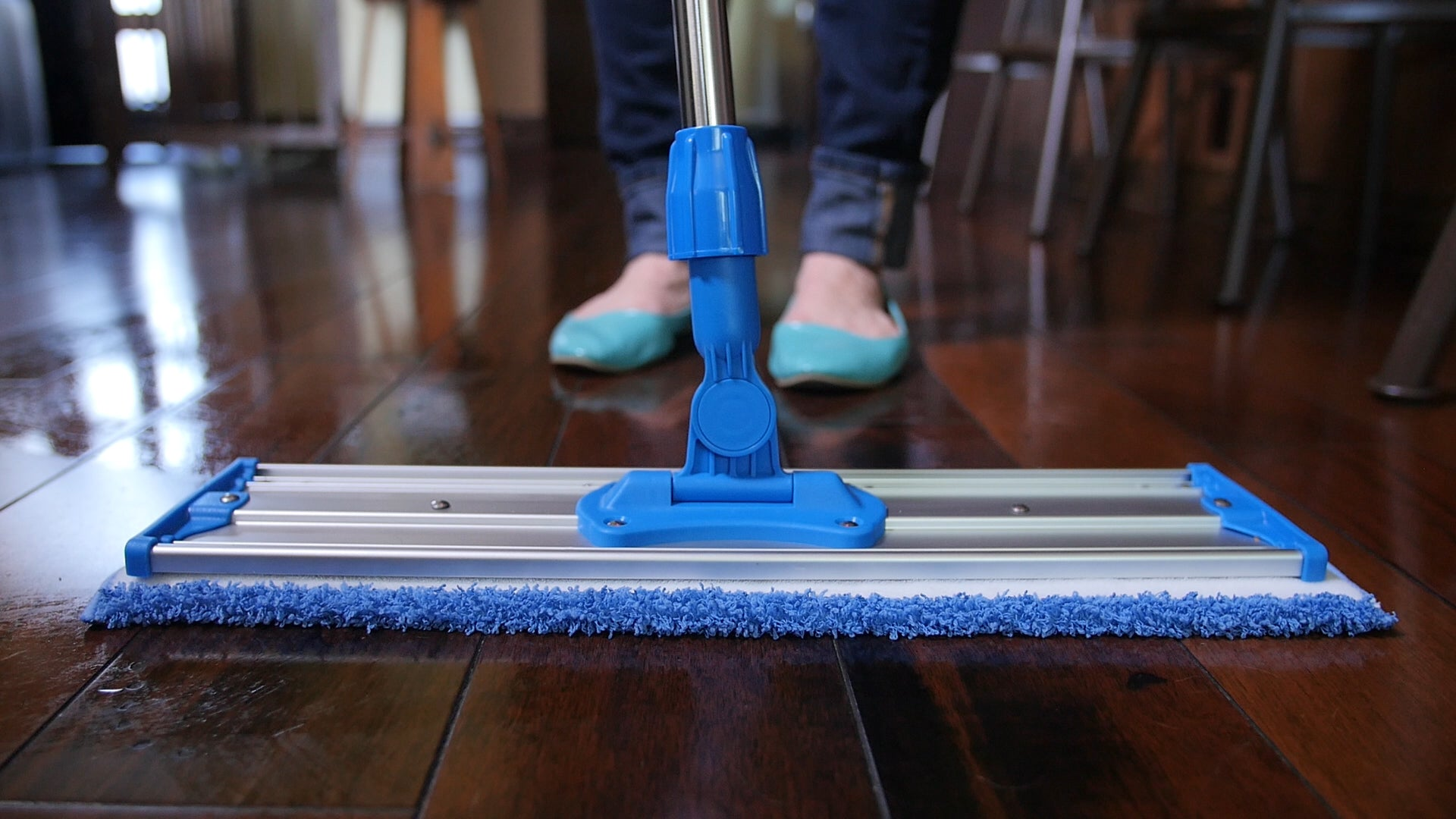"Wet Mop Pads For Our 18"" Professional Microfiber Mop System With Stainless Steel Handle"