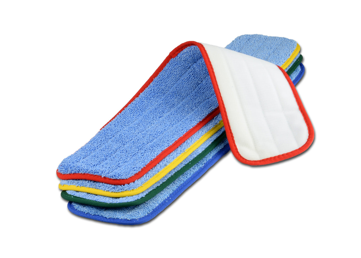 MWMCC26-Large 24 Inch Color Coded Microfiber Wet Mop Pads Prevent Cross Contamination