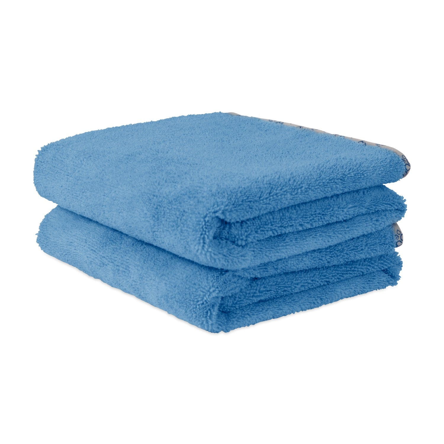 Blue Microfiber Car Drying Towel For Auto Detailing