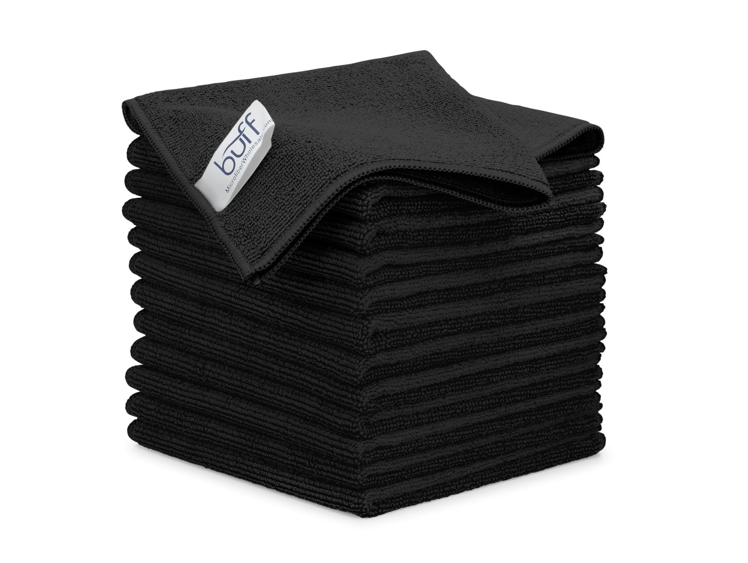 Black Microfiber Cleaning Cloths 12 Pack