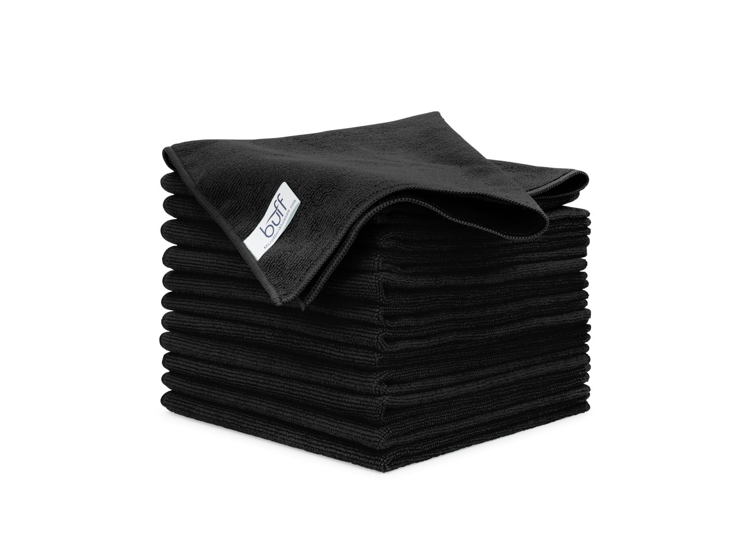 Black Microfiber Towels 12 Pack