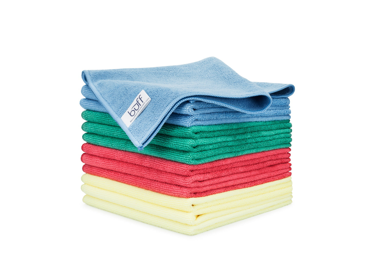 Blue Green Red Yellow Microfiber Towels 12 Pack