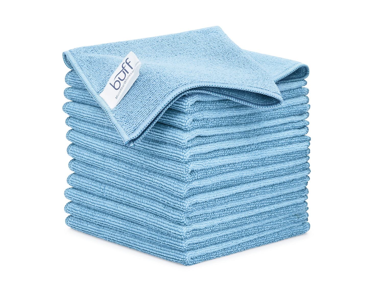 Blue Microfiber Cleaning Cloths 12 Pack
