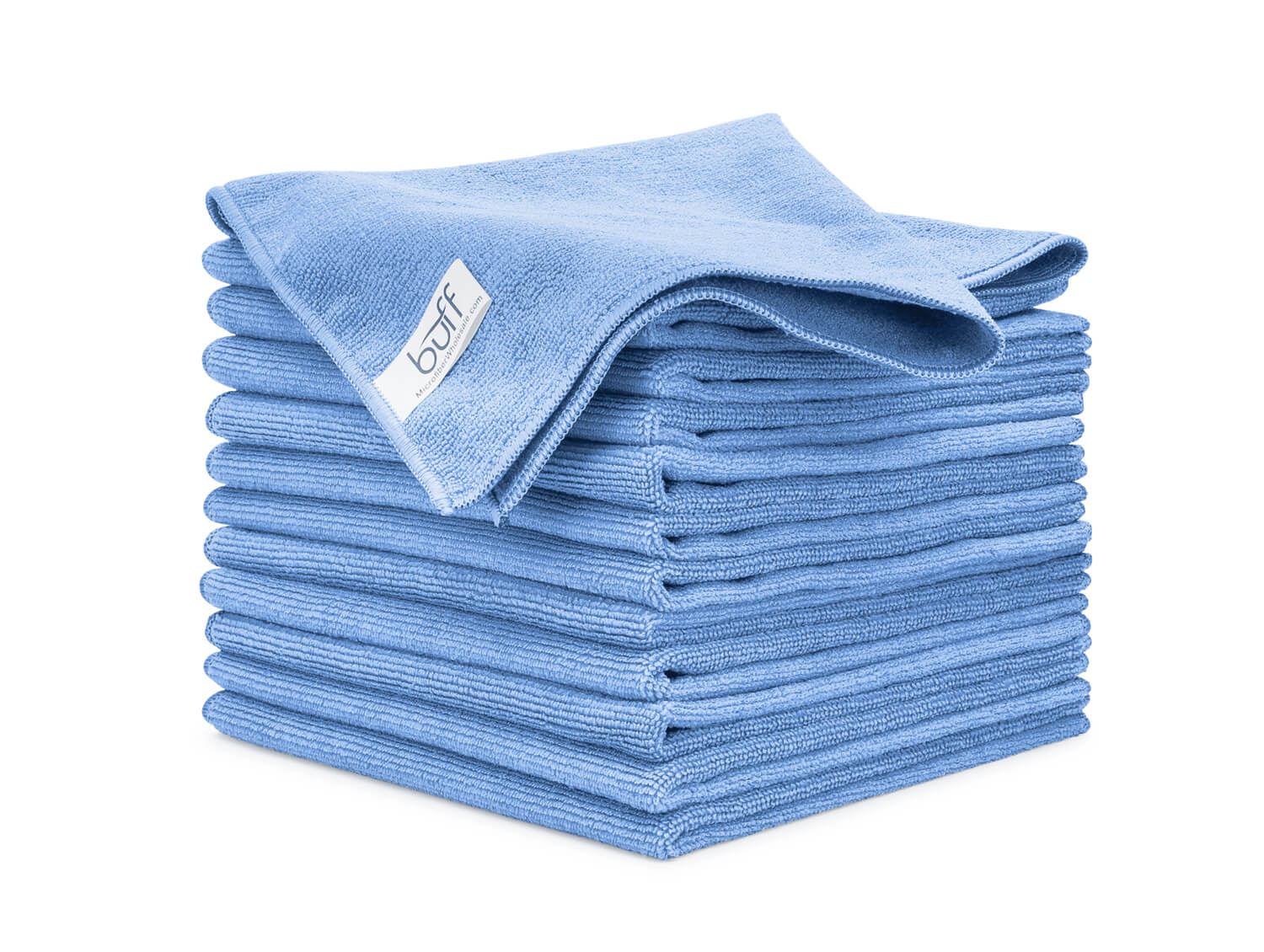 Blue Microfiber Towels 12 Pack