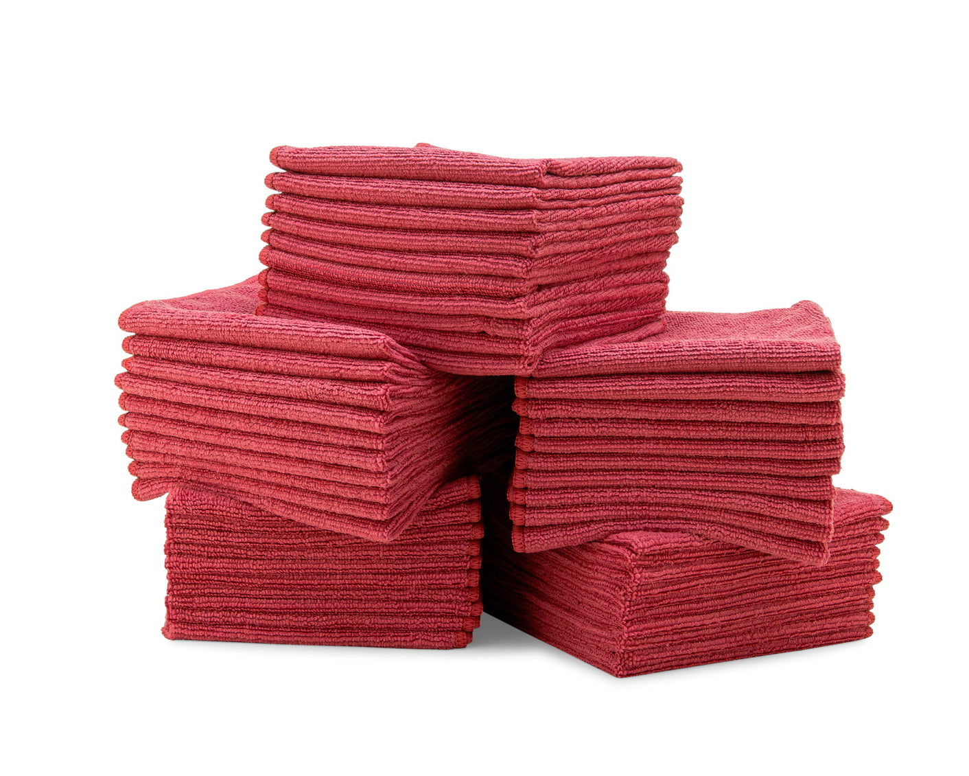Bulk Microfiber Cloths Red