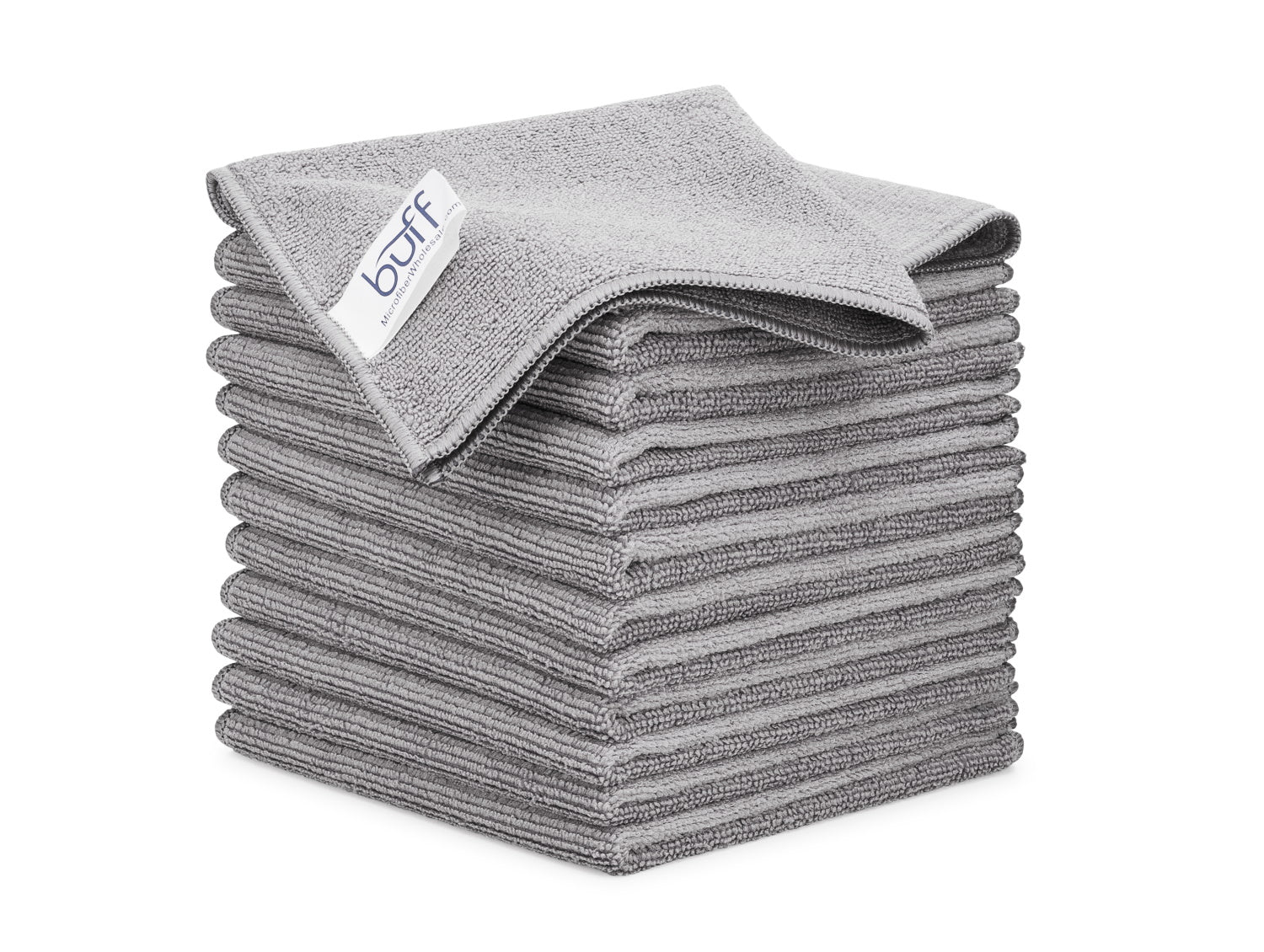 Gray Microfiber Cleaning Cloths 12 Pack