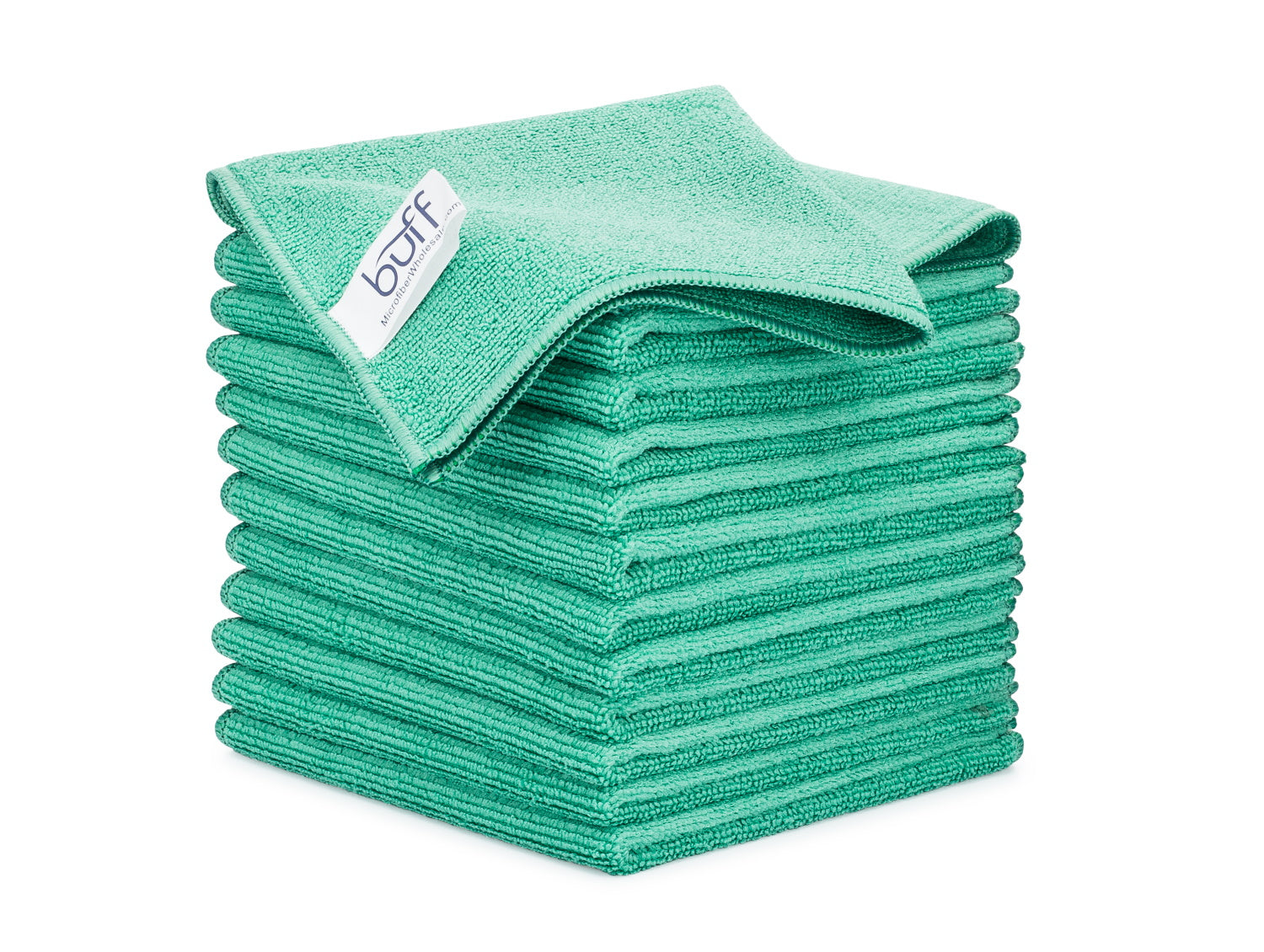 Green Microfiber Cleaning Cloths 12 Pack