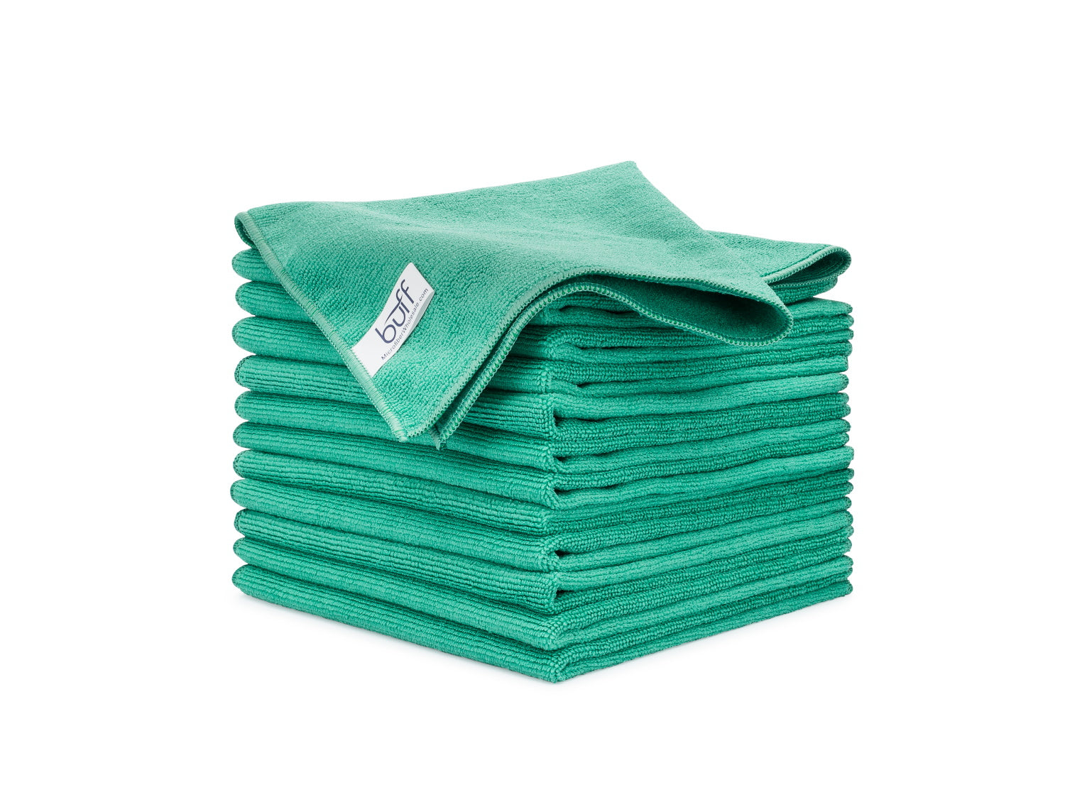 Green Microfiber Towels 12 Pack