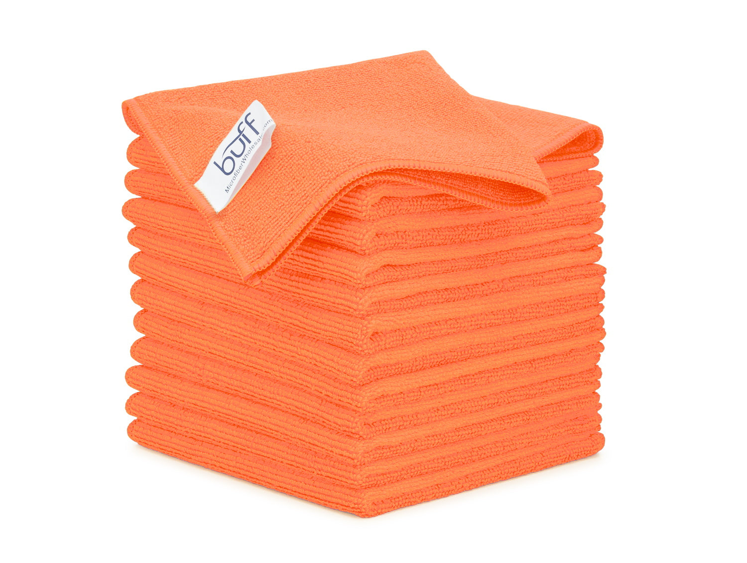Orange Microfiber Cleaning Cloths 12 Pack