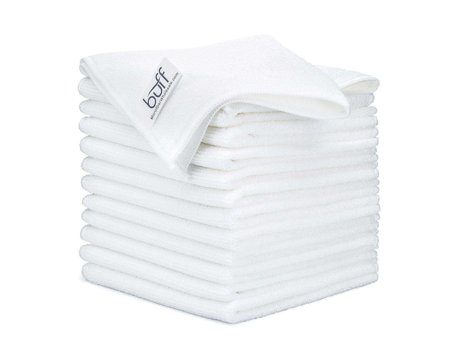 White Microfiber Cleaning Cloths 12 Pack