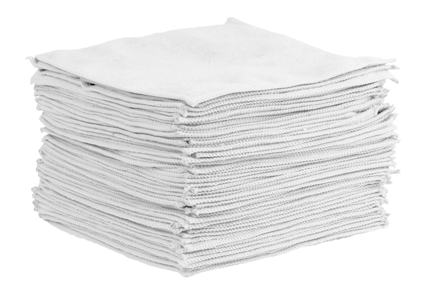 white microfiber cloths
