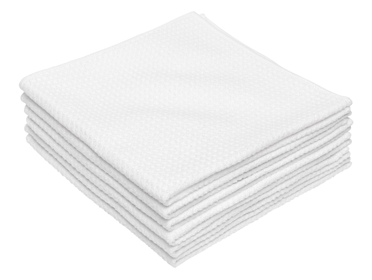 White Microfiber Waffle Weave Kitchen Towels