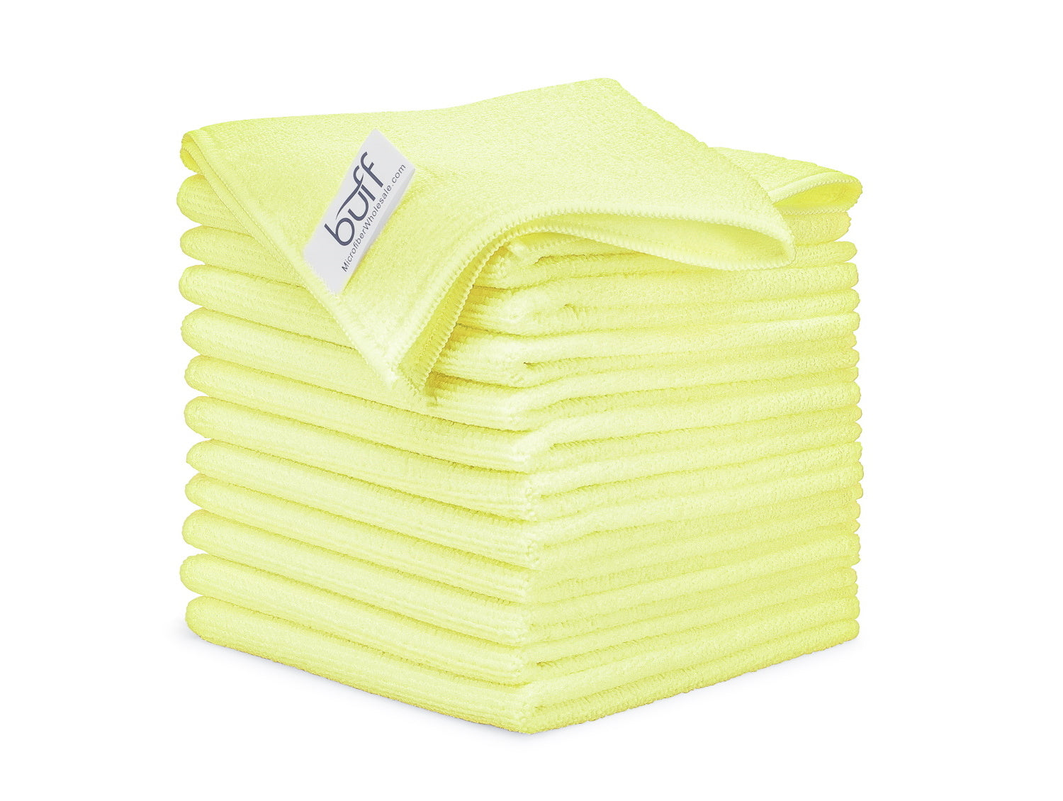 Yellow Microfiber Cleaning Cloths 12 Pack