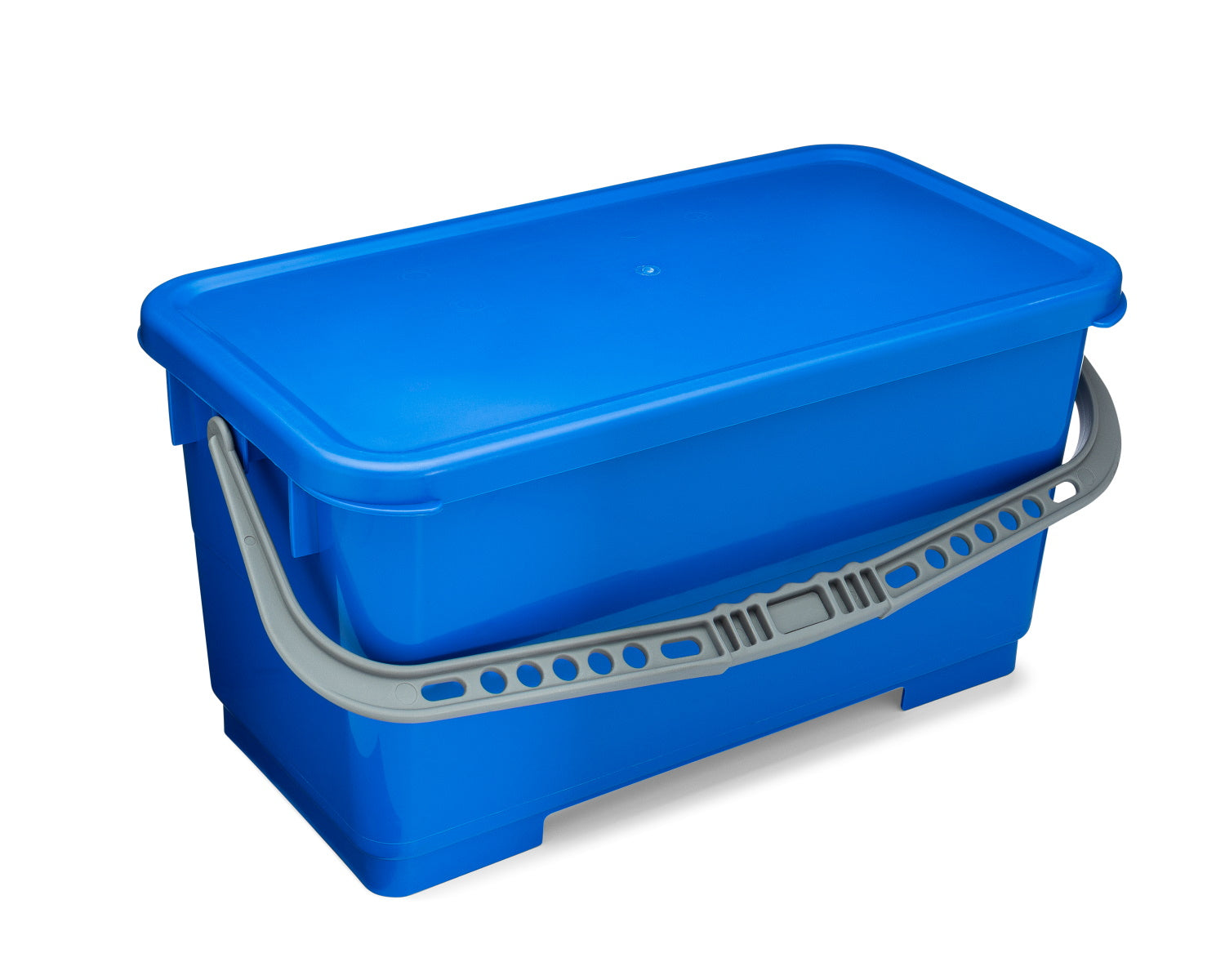 blue mop bucket