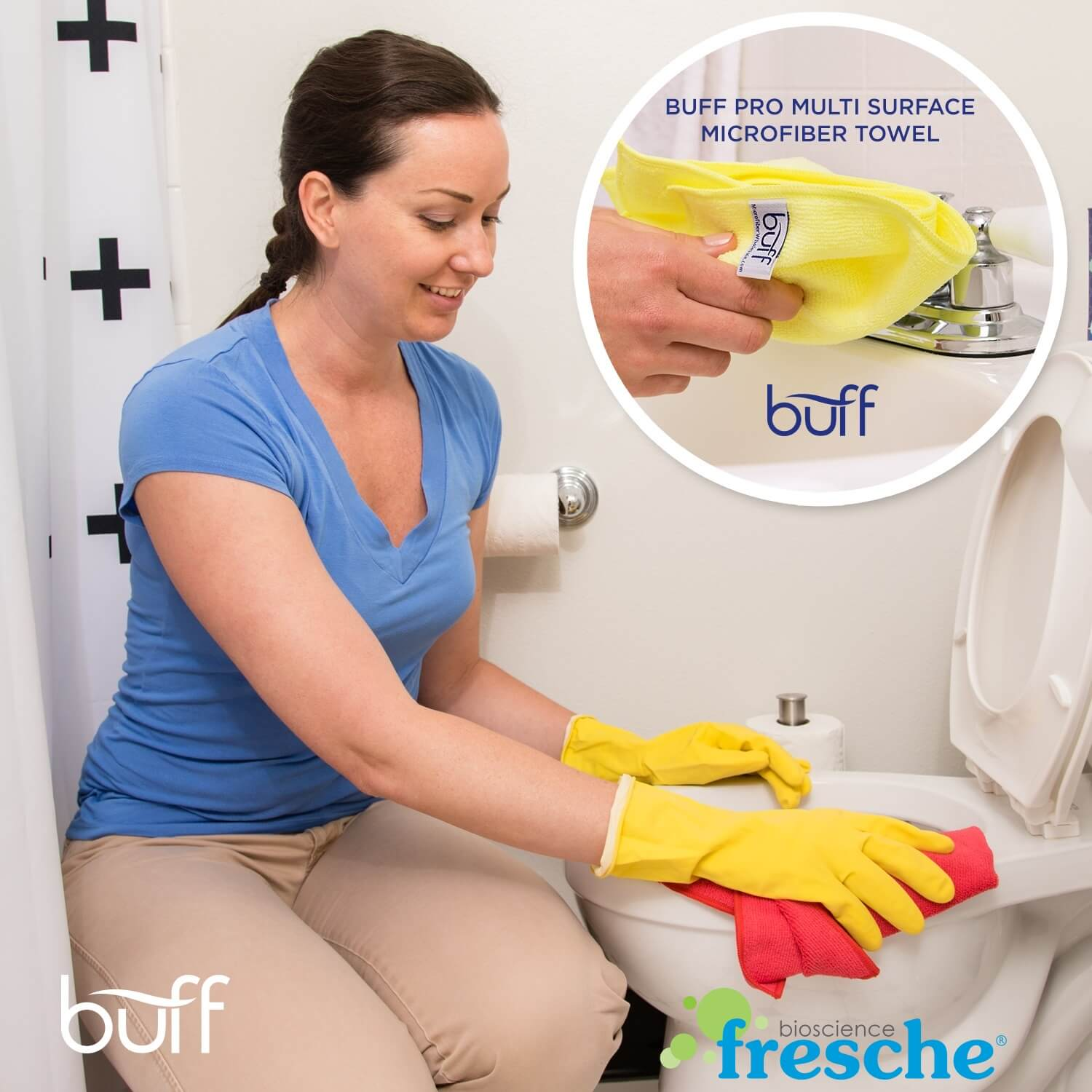 antimicrobial towels removes bacteria, germs, fungus, mold, and mildew in bathrooms