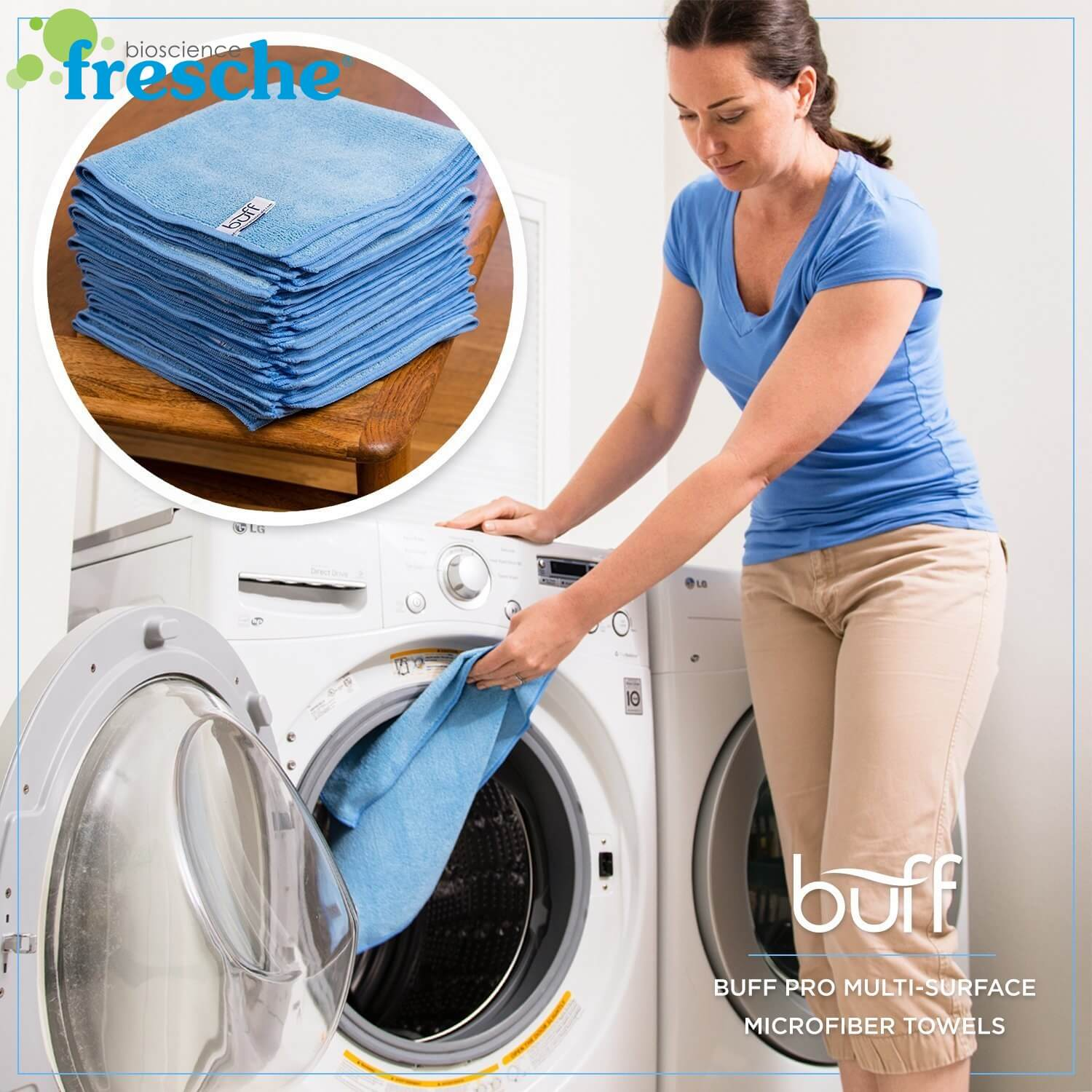 Machine Washable Antimicrobial Microfiber Towels