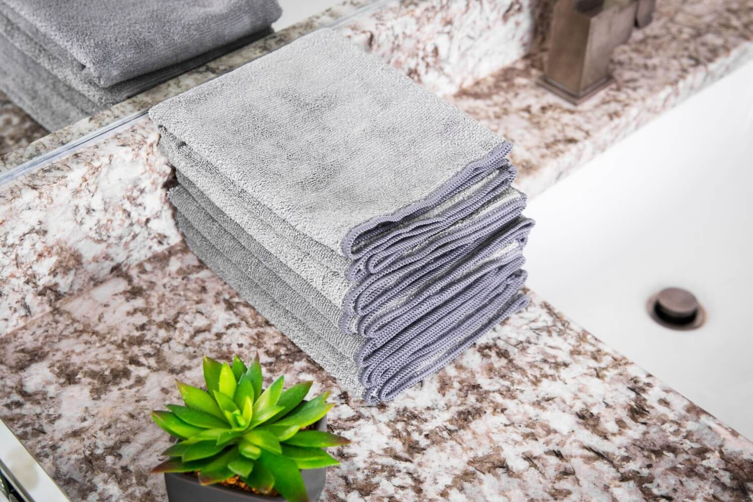 Gray Microfiber Cloths