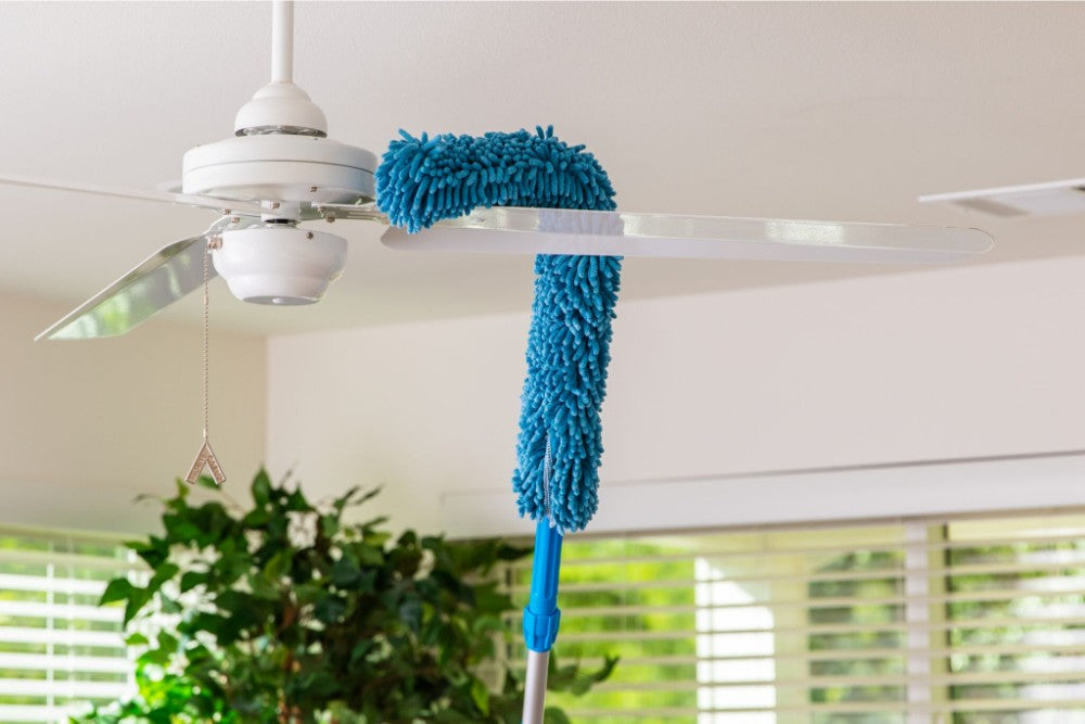 High Reach Microfiber Cleaning Kit works great as a ceiling fan duster