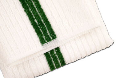 Green Stripe Bar Mop Towels For Kitchens, Dishes, Counters