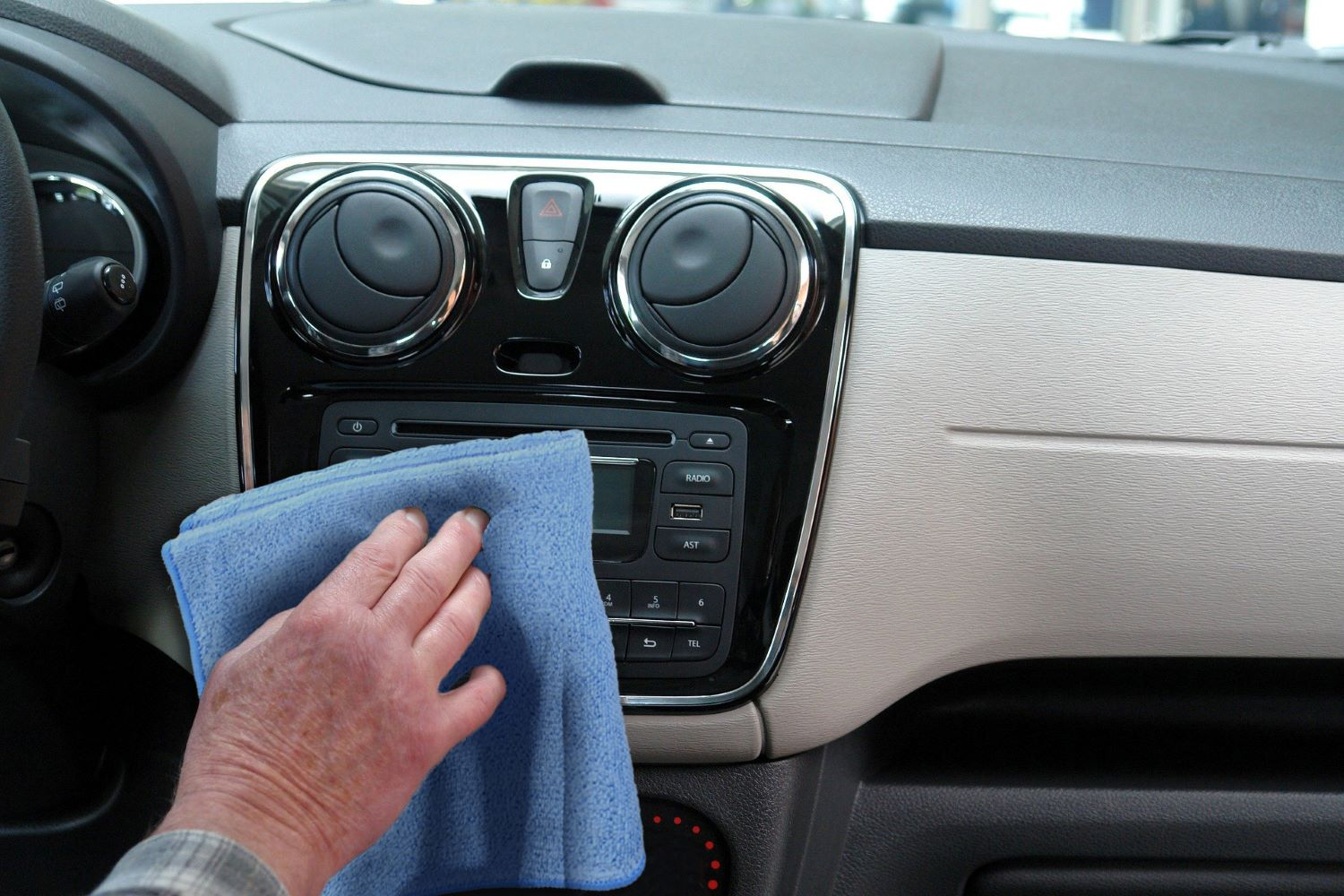 Microfiber Car Wash Towels Interior Dashboard