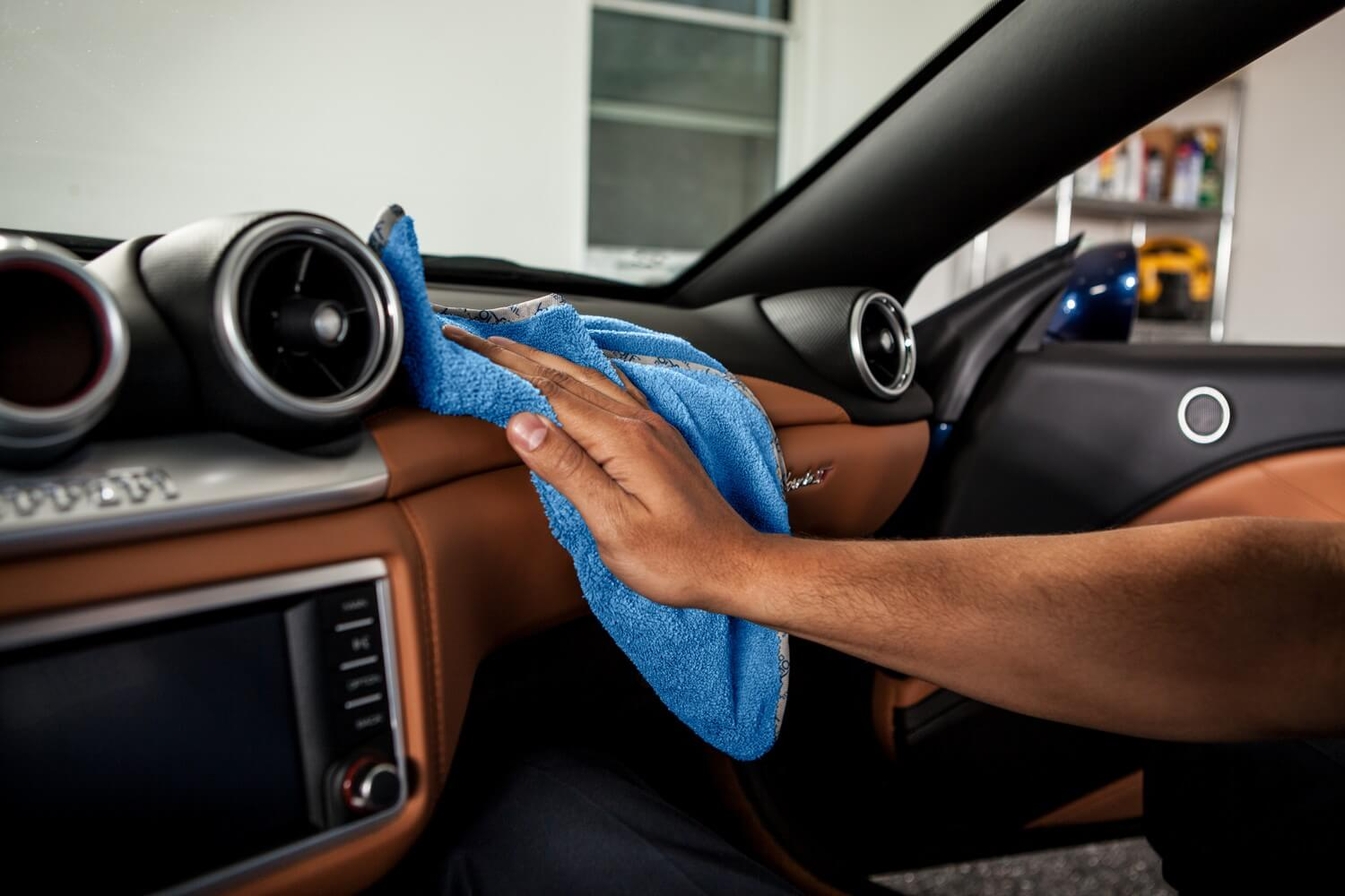 best microfiber towel for car detailing interior dashboards leather