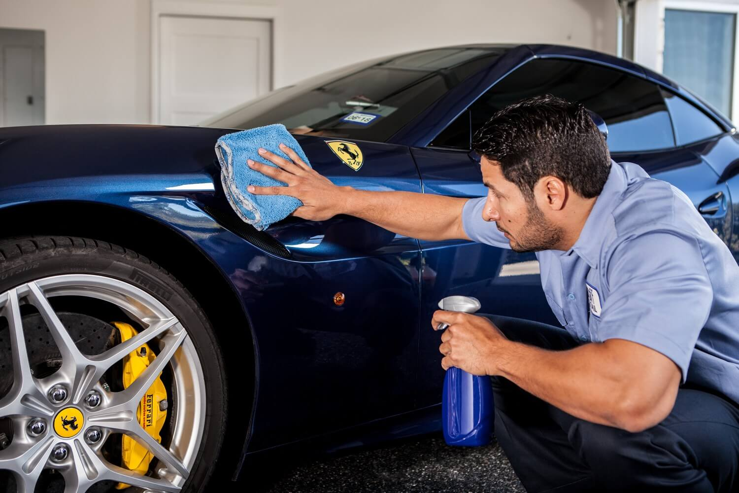 Blue Microfiber Towel For Buffing Car