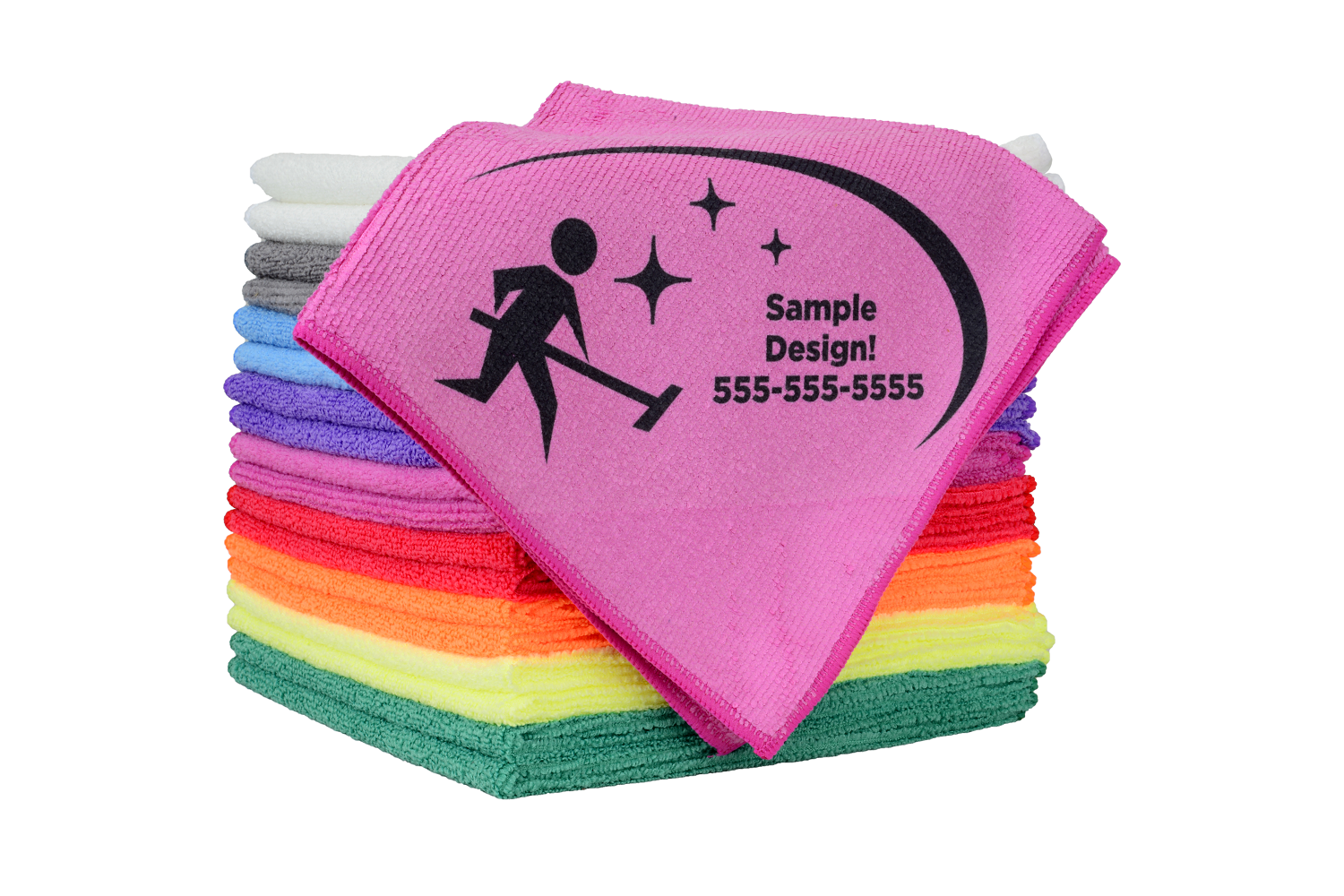 "Printed 16""x16"" Pro Multi-Surface Microfiber Towel"