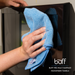 Blue Antimicrobial Microfiber Towels