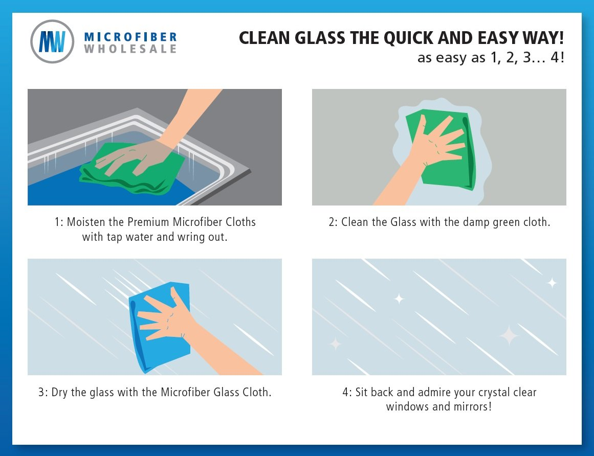 Using Microfiber Glass Cloth For Streak Free Windows Mirrors