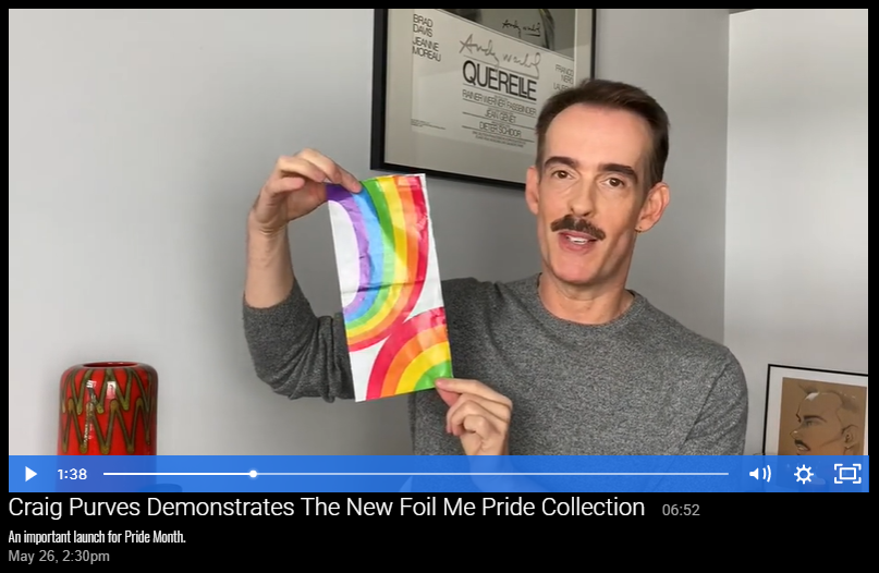 Craig Purves Demonstrates The New Foil Me Pride Collection