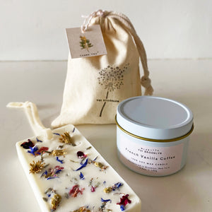 4oz Signature Candle + Botanical Soy Wax Tablet Gift set