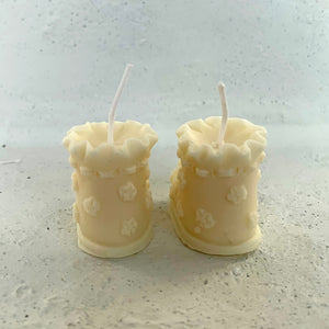 Baby Shoes Shape Candle  │ Kawaii Candle Baby Gift