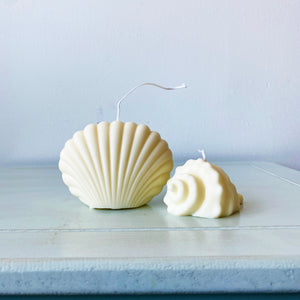 【No Color】Shell Scented Soy Wax Shape Candle  │ Kawaii Candle