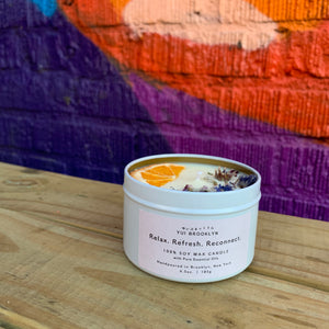 Relax. Refresh. Reconnect.  Signature Candle 【100% Pure Essential Oils】