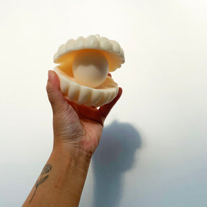 Big Pearl shell Soy Wax Candle  │ Kawaii Candle