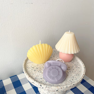 Colorful Retro Rotary Dial Phone Shape Candle │ Kawaii Candle