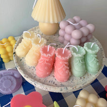 Load image into Gallery viewer, Baby Shoes Shape Candle  │ Kawaii Candle Baby Gift