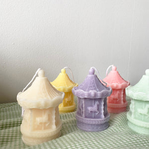 Carousel merry-go-round Shape Candles  │ Kawaii Candle