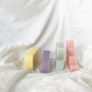 Set of 4 Abstract Candle Gift Pack │ Kawaii Candle │ Yui Brooklyn