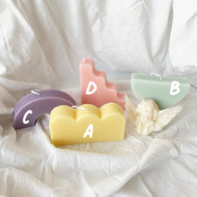 Load image into Gallery viewer, Pastel Color Curvy & Wavy Shape Soy Wax Candles │ Kawaii Candle