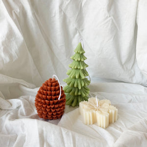 Christmas decor soy candles Holiday gift //1 │ Yui Brooklyn