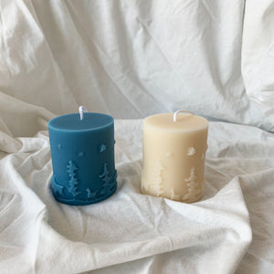 Christmas decor soy candles Holiday gift //2 │ Yui Brooklyn