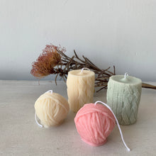 Load image into Gallery viewer, Colorful Yarn Ball Candle & Knitted Candle│ Kawaii Candle