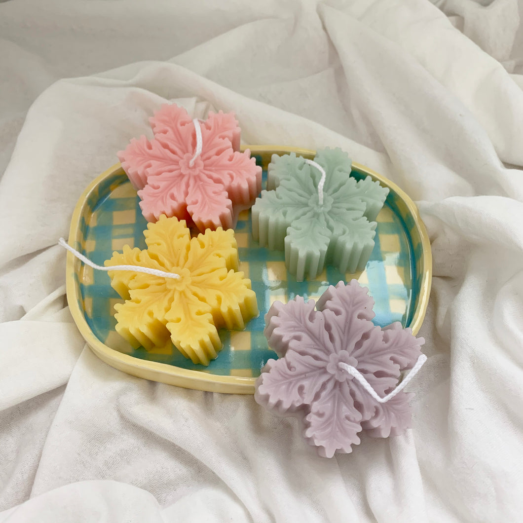 Colorful Snowflake Shape Soy Wax Candles │ Kawaii Candle