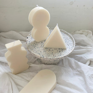 【No Color】Part 2 / Abstract Shaped Soy Wax Candles │ Kawaii Candle