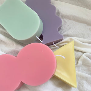 Part 2 / Pastel Color Abstract Shaped Soy Wax Candles │ Kawaii Candle