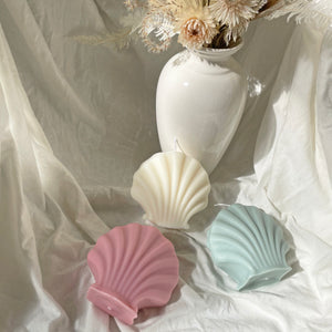Sculpture Shell Shaped Soy Wax Candle │ Kawaii Candle │ Yui Brooklyn