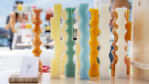 Squiggle Marble Candles  │ Kawaii Candle