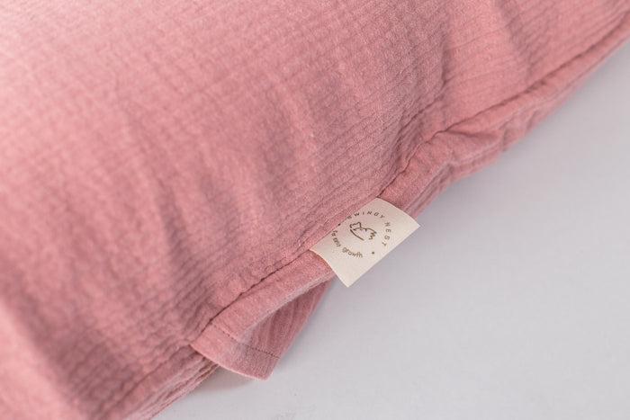 Snuggle Baby Lounger With Polyester Or Wool Filling | Dusty Pink Slip On Cover