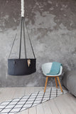 swingy nest hanging baby cradle, baby bassinet, hanging baby bassinet, cotton baby cradle, hanging baby cradle, natural hanging baby cradle, baby sleeping cradle, swinging baby cradle, dark grey cradle, dark grey bassinet, rocking baby cradle, cradle with spring